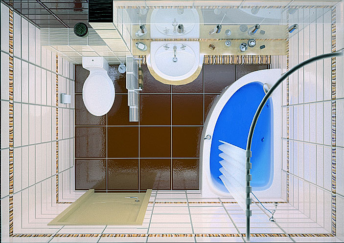 идеи дизайна маленькой ванной комнаты 2346 квметра в хрущевке