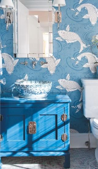 <em>Редактировать Блог</em> Ванная комната голубого цвета!Дизайн, идеи, фотографии!