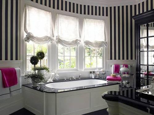 Дизайн ванны в черно цвете