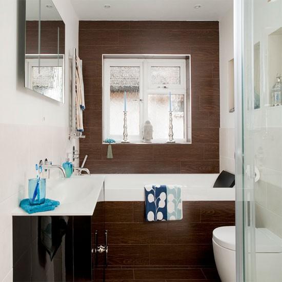 Small spa like bathroom