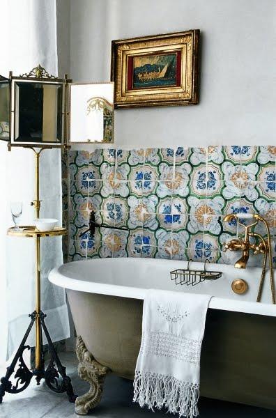 Ванные комнаты в стиле прованс фото
