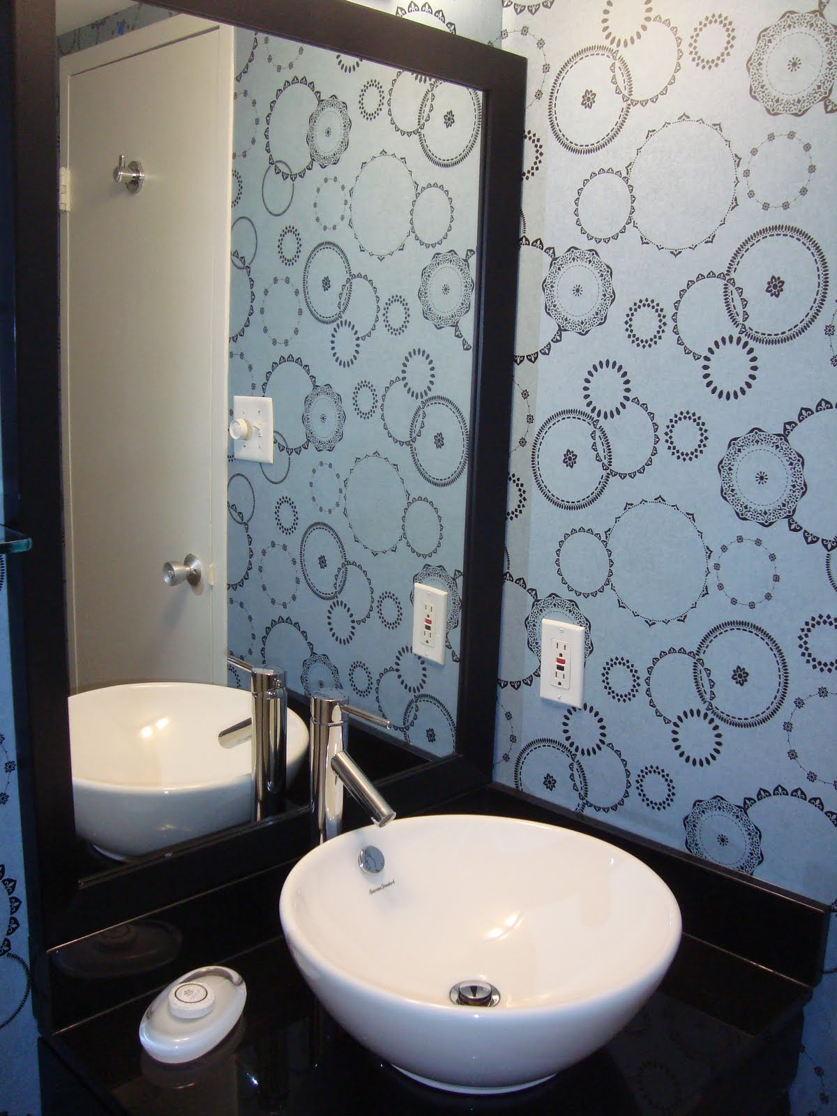 Bathroom with wallpaper ideas