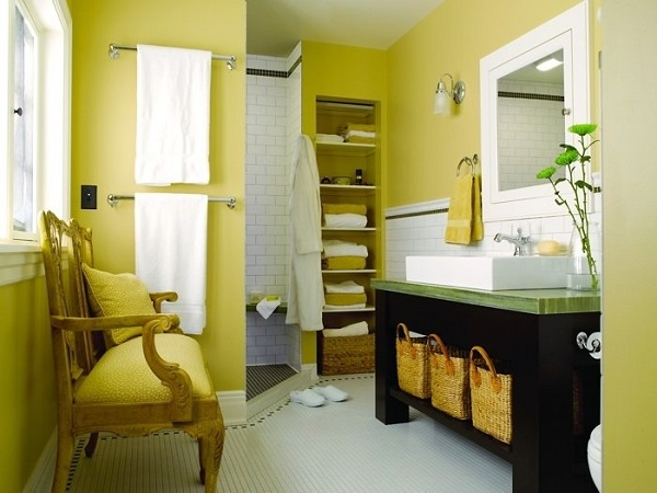 for Yellow and black bathroom ideas