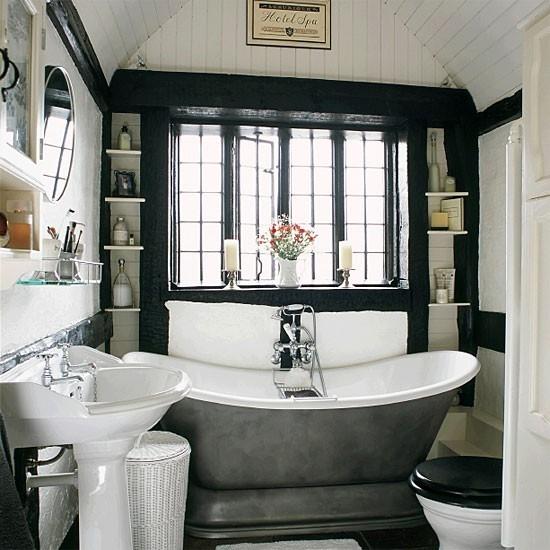Дизайн ванны в черном цвете фото